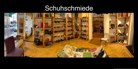 Aussenansicht Schuhschmiede Münzstrasse in Würzburg gegenüber der Volkshochschule in der Nähe der Regierung von Unterfranken